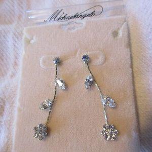 Flower Dangle Stud Earrings